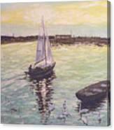 Saling Home At Sunset Canvas Print