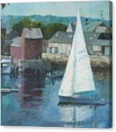 Saling In Rockport Ma Canvas Print