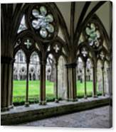 Salisbury Cathedral Cloisters Canvas Print
