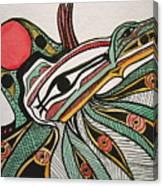 Salishan Style Raven Canvas Print