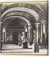 Salle Des Cariatides, Au Mus?e Du Louvre Canvas Print