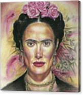 Salma Hayek As Frida Kahlo Canvas Print