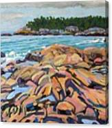 Salmon Rocks Canvas Print