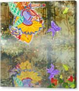 Salmonberry Fairy Merri Goldentree Canvas Print