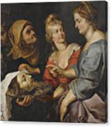 Salome With The Head Of St. John The Baptist Canvas Print