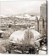 Salt Lake City Landmarks Canvas Print