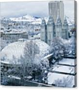 Salt Lake City Tabernacle And Temple Canvas Print