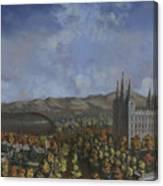Salt Lake City Temple Square Nineteen Twelve  Canvas Print