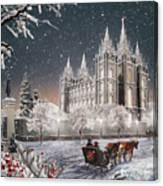 Salt Lake Temple - Old Time Christmas Canvas Print