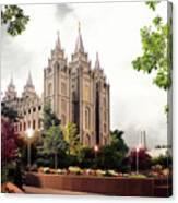 Salt Lake Temple - Summer Canvas Print