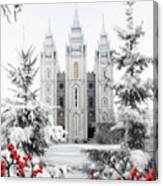 Salt Lake Temple - Winter Wonderland Canvas Print
