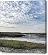 Salt Marsh And Creek, Brancaster Canvas Print