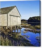 Salt Pond Boathouse  Canvas Print