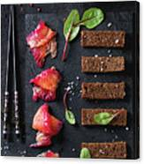 Salted Salmon With Beetroot  Canvas Print