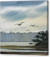 Saltwater Bay Canvas Print