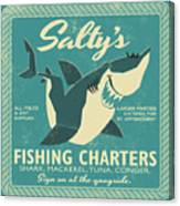 Salty's Fishing Charters Canvas Print