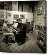 Saluda Piano Man Canvas Print