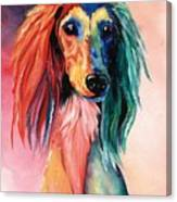 Saluki Sunset Canvas Print