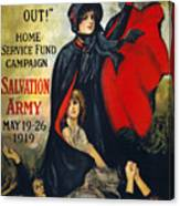Salvation Army Poster, 1919 Canvas Print