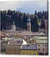 Salzburg City View Three Canvas Print