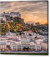 Salzburg In Fall Colors Canvas Print