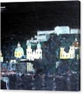 Salzburg In Moonlight Canvas Print