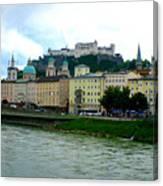 Salzburg Over The Danube Canvas Print