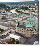 Salzburg Panoramic Canvas Print