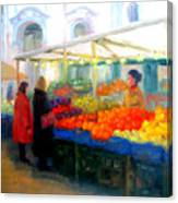 Salzburg Shoppers Canvas Print
