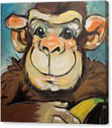 Sam The Monkey Canvas Print