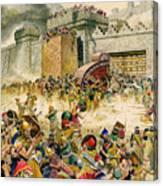 Samaria Falling To The Assyrians Canvas Print