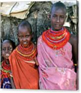 Samburu Sisters Canvas Print