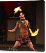 Samoan Fire Dance Canvas Print