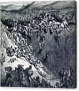 Samson Destroys The Philistines With An Ass Jawbone Canvas Print
