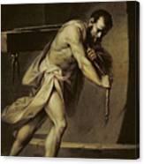 Samson In The Treadmill Canvas Print