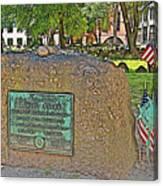 Samuel Adams Gravestone At Granary Burying Ground In  Boston-massachusetts Canvas Print