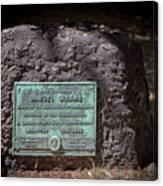 12- Samuel Adams Tombstone In Granary Burying Ground Eckfoto Boston Freedom Trail Canvas Print