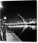 Samuel Beckett Bridge 2 Bw Canvas Print