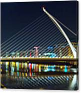Samuel Beckett Bridge 4 Canvas Print