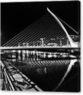 Samuel Beckett Bridge 5 Bw Canvas Print