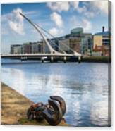 Samuel Beckett Bridge, Dublin, Ireland Canvas Print
