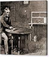 Samuel Morse And Telegraph, 19th Century Canvas Print