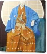 Samurai-san -- Portrait Of Japanese Warrior Canvas Print