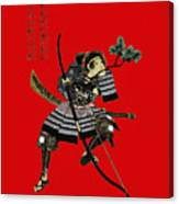Samurai With Bow Canvas Print