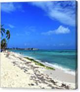 San Andres Island Beach View Canvas Print