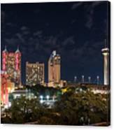 San Antonio Cityscape At Night Canvas Print