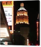 San Antonio Downtown Night Canvas Print