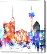 San Antonio Skyline Canvas Print