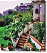 San Clemente Estate Backyard Canvas Print