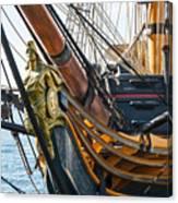 San Diego Embarcadero - Hms Surprise Figurehead Canvas Print